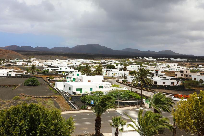 Yaiza Lanzarote Lanzarote Island Lanzarote 😍💙 Lanzarote-Canarias Black Clouds Lanzarote Collection Palm Trees Whether White Houses Yaiza Yaizah