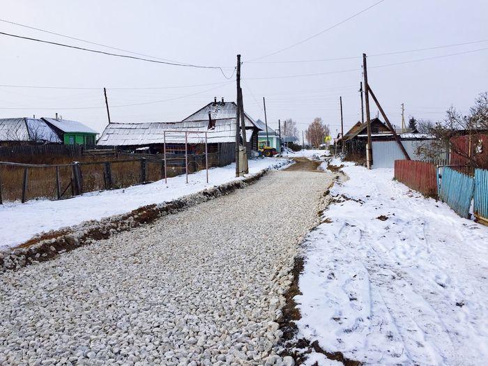 Ремонт дороги Дорога ремонт деревня урал Щебень Скала