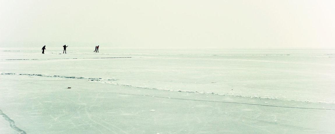Vast Field Adventure Cold Temperature Frozen Lake With People Frozen Outside Frozen World Ice Field Landscape Nature Outdoor Pursuit Outdoors People Scenics Snow Sports People Sportsman Winter Winter