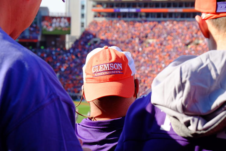 Sport Adults Only Men Only Men People Adult Close-up Stadium Crowd Day Outdoors Sports Race Participant One Man Only Clemson Clemson Tigers Clemson Football Clemson University
