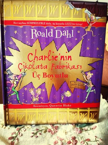 My Book Charlie And The Chocolatefactory RoalDahl 3-D! <3