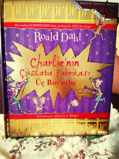 My Book Charlie And The Chocolatefactory RoalDahl 3-D! <3