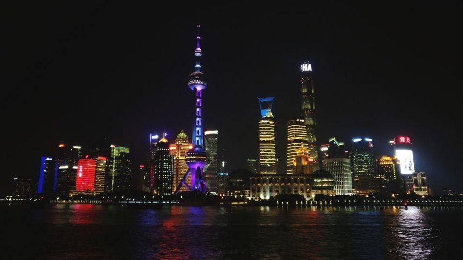 魔都Magic City Shanghai Greet Christmas Beautiful City Isn't It? Magic City Built Structure Cityscape