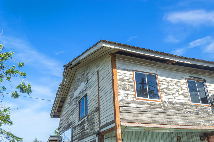 Architecture Blue Sky Building Exterior Built Structure Sky Window Wooden Home Wooden House