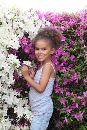 Flower Smiling Nature Real People Outdoors One Girl Only Beauty In Nature