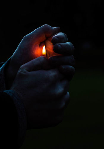 Kill the Darkness.. and start from within yourself Black Background Burning EyeEmNewHere Fire Flame Heat - Temperature Holding Human Body Part Human Finger Human Hand Illuminated Light Lighter One Person EyeEmNewHere