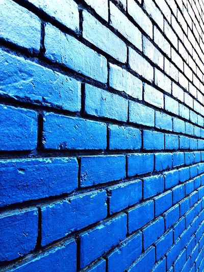 wall Wall - Building Feature Brick Wall Brick Wall Blue Building Exterior