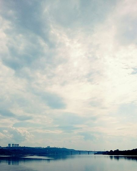 Mobilephotography River View River Clouds And Sky Clouds Bridge Landscape Cityscapes