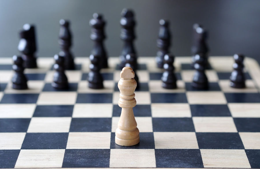 chess Black Color Board Game Challenge Checked Pattern Chess Chess Board Chess Piece Close-up Competition Day Focus On Foreground Indoors  Intelligence King - Chess Piece Knight - Chess Piece Leisure Games No People Pawn - Chess Piece Queen - Chess Piece Strategy White Color