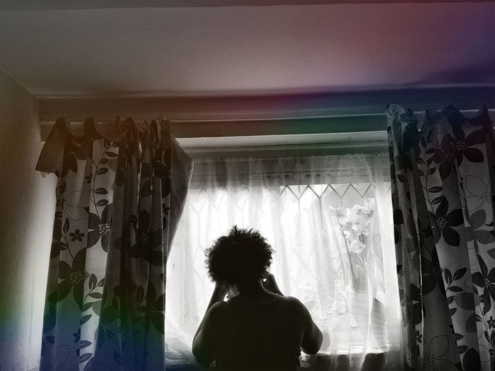 """""""Watch me shine through my darkness"""" - T Beauty at work 🌷 First Eyeem Photo Photography Beauty Blackandwhite Uk London Canning Town Flouresent Light Hairstyle Bedroom Window"""