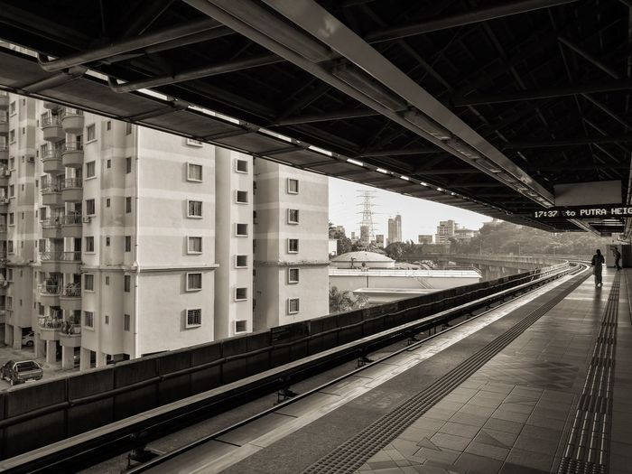 Who you're waiting may just be a fragment of your memory Lrt Station Train Tracks Fine Art Photography