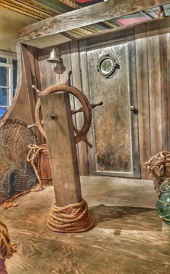 Pirate Ship Adventure Architecture Indoors  Last Bookstore Imagination Helm Bell Books No People Doorway