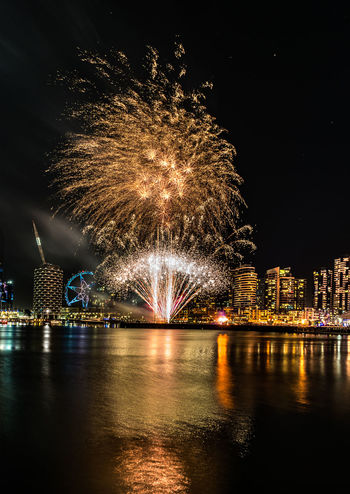 This was taken at Firelight Festival Docklands Melbourne Australia. Cityscapes Firework Display Fireworksphotography MelbournePhotographer Melbournephotos Night Lights Night Photography Reflections In The Water Timelapsephotography