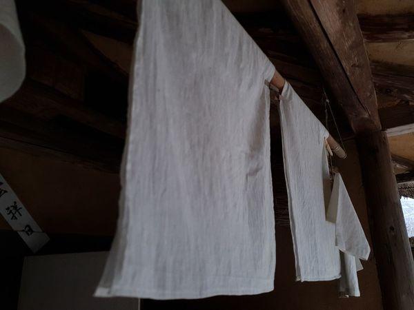 민속촌 Close-up Drying Clothesline Cloth Clothes Laundry Hanging