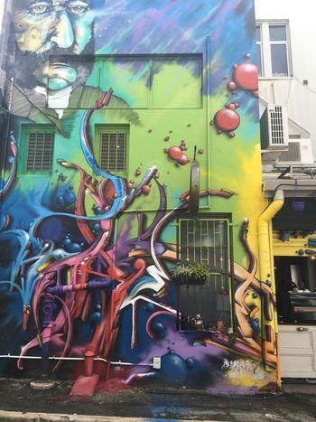 Street Art Graffiti Unknown Artist Colourful
