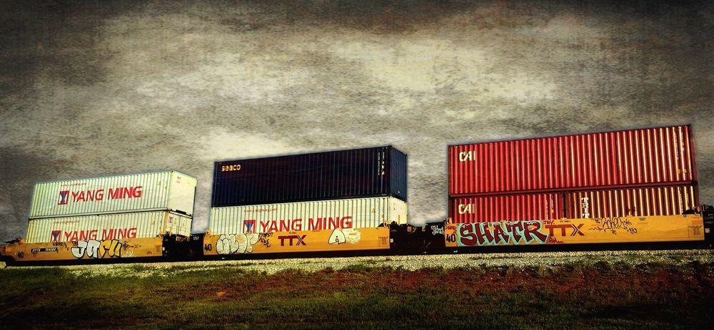 Train Railroad Box Cars Graffiti IPhoneography
