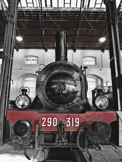 Mode Of Transport No People Transportation Fire Engine Indoors  Day Steam Train Train Station Train - Vehicle Trains Pietrarsa Pprtici