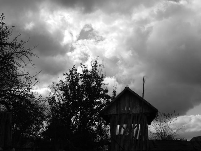 Black & White Hills Rural Rural Scenes Architecture Black And White Built Structure Cloud - Sky Garden Garden Photography Nature No People Outdoors Rural Scene Sky Tree Village