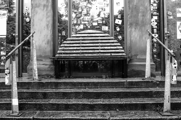Architectural Column Architecture Black Black And White Blackandwhite Blackandwhite Photography Built Structure Closed Day Empty No People Outdoors Plant Stairs Street Street Photography Streetart Streetphoto_bw Streetphotography The Way Forward White