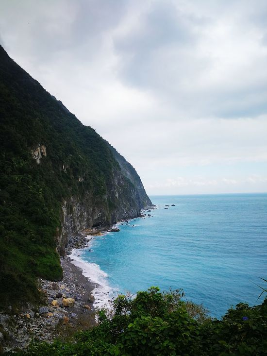 Taiwan Taroko National Park Cliff Hualian Sea Beach Water Cloud - Sky Nature Horizon Over Water Beauty In Nature Outdoors Scenics No People Landscape