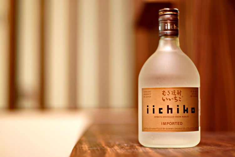 Iichiko Alcohol Japan Drink Asian  Asian Culture Sashalmi Pub Eye4photography  EyeEm Gallery Budapest, Hungary Planet Sushi Bottle Drink Text Drinking Glass Food And Drink Alcohol Indoors  Cork - Stopper Close-up