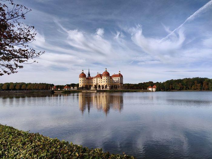 Moritzburg castle Castle Water Schloss Moritzburg  Clouds Clouds And Sky Lake Blue