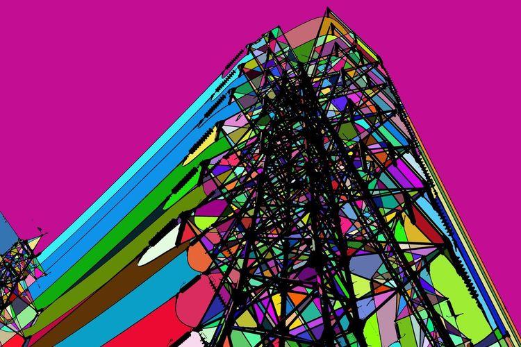 Multi Colored Sky Architecture Built Structure