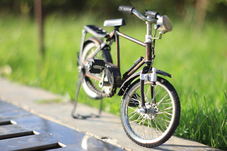 Miniatur Bicycle Architecture Aceh Transportation Day Focus On Foreground No People Land Vehicle Bicycle Mode Of Transportation Plant Grass Green Color Stationary Outdoors Nature Wheel Metal Field Close-up Land Sunlight Footpath Tire