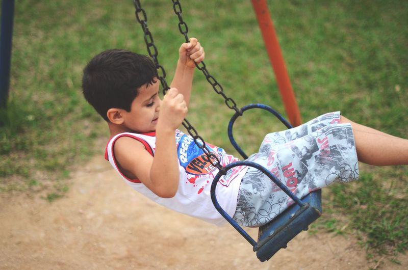 Swing One Person Childhood Real People Outdoors Playground Babyhood Day Close-up People Recreation  Leisure Activity Fun