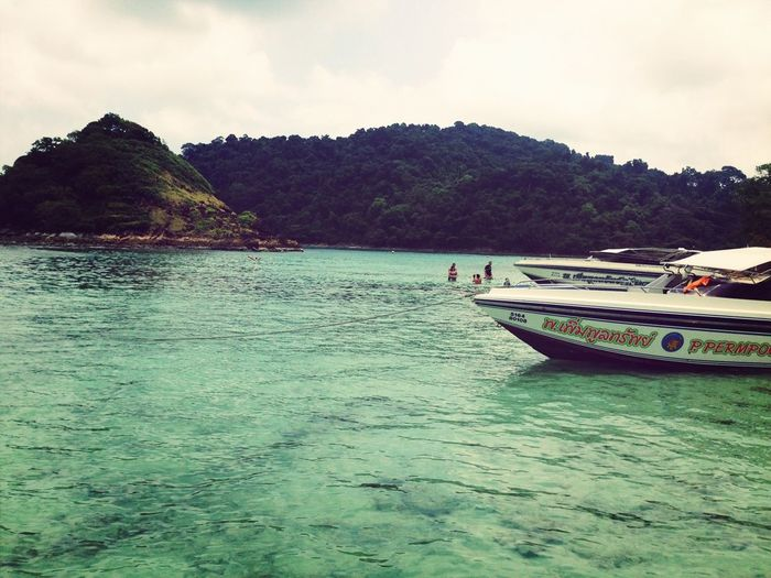 Relaxing Sea Enjoying The Sun Island