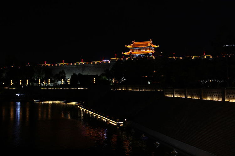 Architecture Bridge Bridge - Man Made Structure Building Building Exterior Built Structure Chain Bridge City Coutoure  Illuminated Nature Night No People Outdoors Reflection Religion River Sky Tourism Travel Travel Destinations Water Waterfront