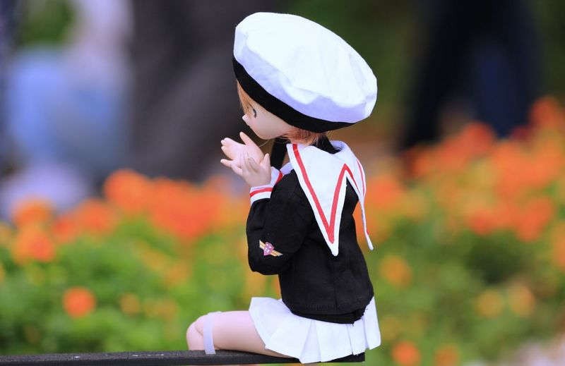 Side view of a boy looking away