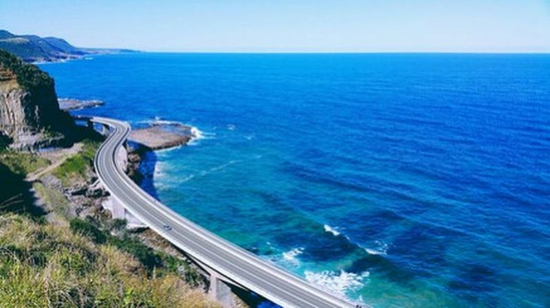 The magnificent sea cliff bridge Bridge View Taking Photos Hello World Enjoying Life Whataview ExploreEverything Great Outdoors Adventure Time Nature_perfection Special👌shot Coastline Hikingadventures Seascape