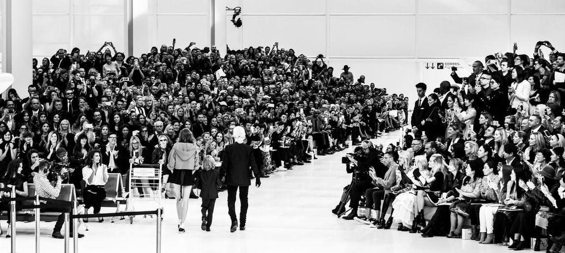 Karl Lagerfeld Fashion Show By Lost In Wonderland Und Fräulein Annie Crowd Large Group Of People Group Of People Clothing Pret-a-porter The Week on EyeEm Fashion Pope Haute Couture Spectator Coco Chanel Chanel