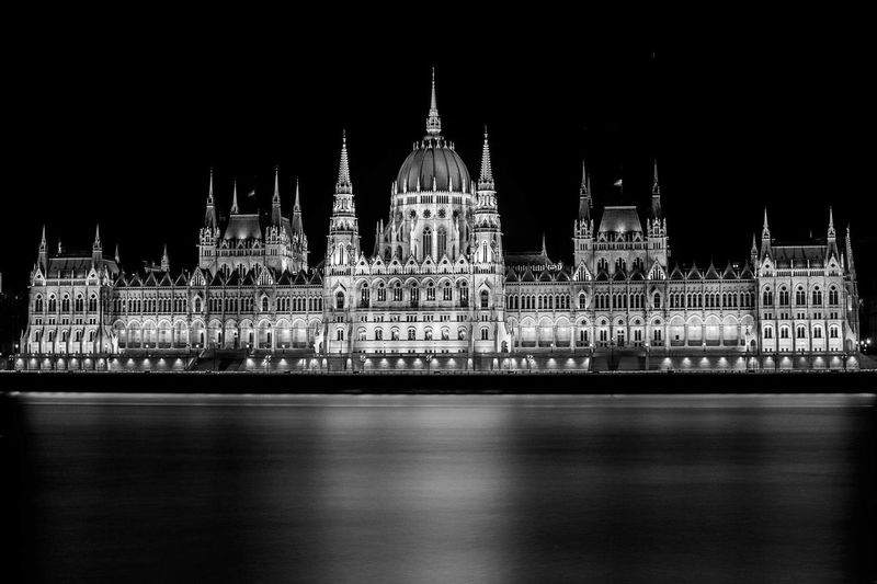 Architecture Travel Destinations City Night Travel Government Built Structure Tourism Cultures No People Cityscape Long Exposure Architecture Black & White Blackandwhite Danube Danube River Politics And Government Parliament Parlamento Húngaro Neighborhood Map Black And White Friday