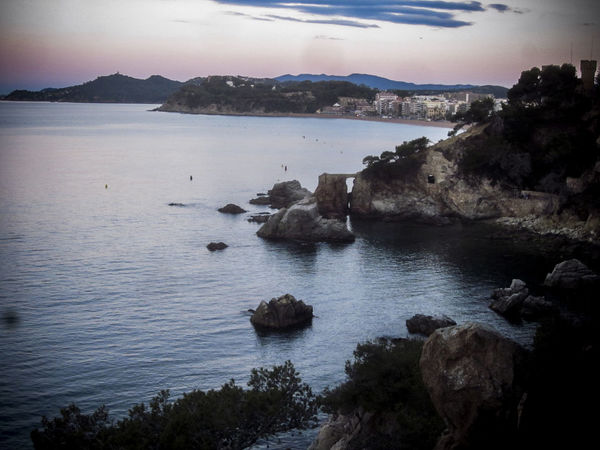 Rocks at Dawn, Lloret de Mar is a Mediterranean coastal town in Catalonia, Spain. One of the most popular holiday resorts on the Costa Brava Lloret De Mar Beauty In Nature Catalonia Idyllic Majestic Mediterranean  Mediterranean Seascape Mountain Nature Non-urban Scene Remote Rock - Object Rock Formation Rocks And Water Scenics Sea Seascape SPAIN Tourism Tranquil Scene Tranquility Travel Travel Destinations Vivid International Water
