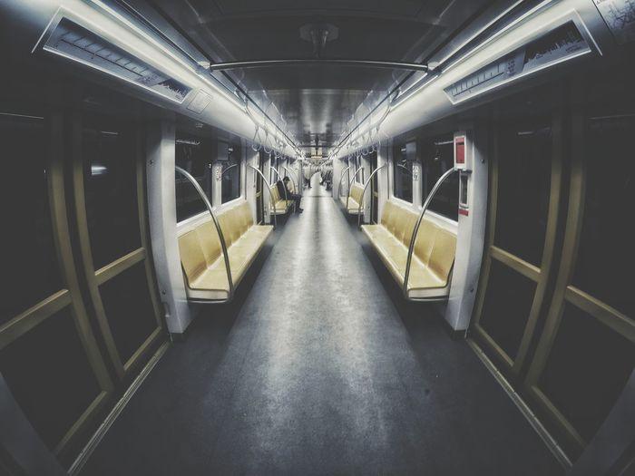Illuminated Symmetry Architecture Subway Train Subway First Eyeem Photo