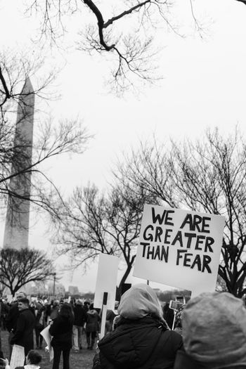 2017 D.C. Democracy Patriotism President Protest The Photojournalist - 2018 EyeEm Awards The Troublemakers Washington Banner - Sign Bare Tree Civil Disobedience Crowd Day Demonstration Government Group Of People Large Group Of People Mass Men Message National Mall Nature Outdoors Placard Protest Protestor Real People Sky Speak Truth To Power Speak Up Against Injustice Street Text Togetherness Tree Western Script Women Women's March