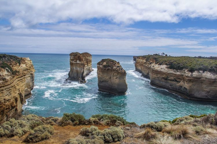Australia Sea Horizon Over Water Beach Scenics Rock - Object Landscape Cloud - Sky Outdoors Sky Tranquility Nature No People Water Beauty In Nature Day 12 Apostles