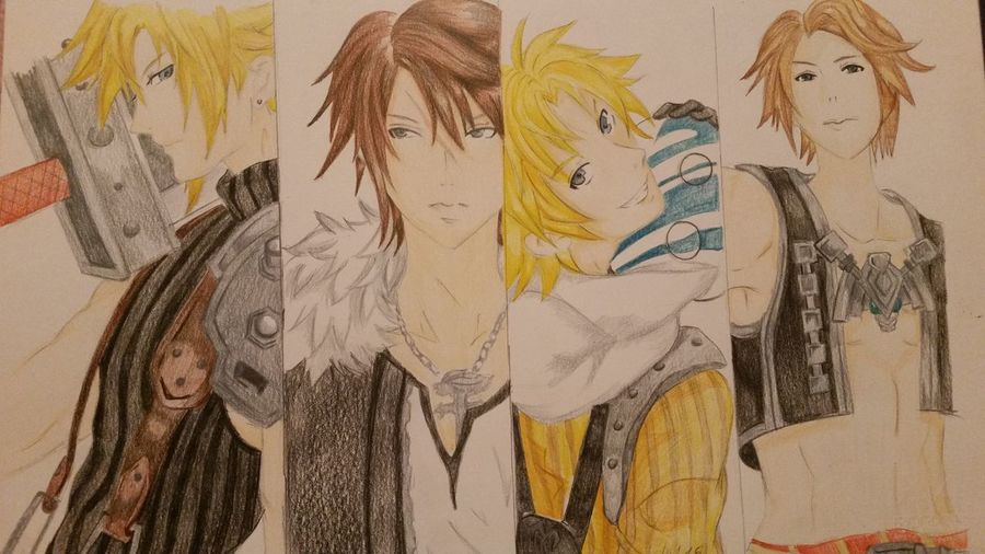 Matita In Vendita Fan Art Manga~ Finalfantasy Finalfantasy8 Pastelli Finalfantasy 10 Final Fantasy 7 Cloud Strife Vaan Tidus