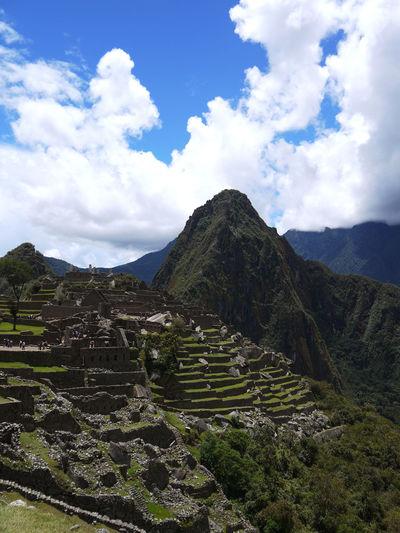 2011 2430m Agriculture Beauty In Nature Cloud - Sky Imperio Inca Inca Landscape Machu Picchu Mountain Outdoors Peru Site Sky Tranquil Scene Travel Destinations World Heritage インカ帝国 ペルー マチュピチュ 遺跡
