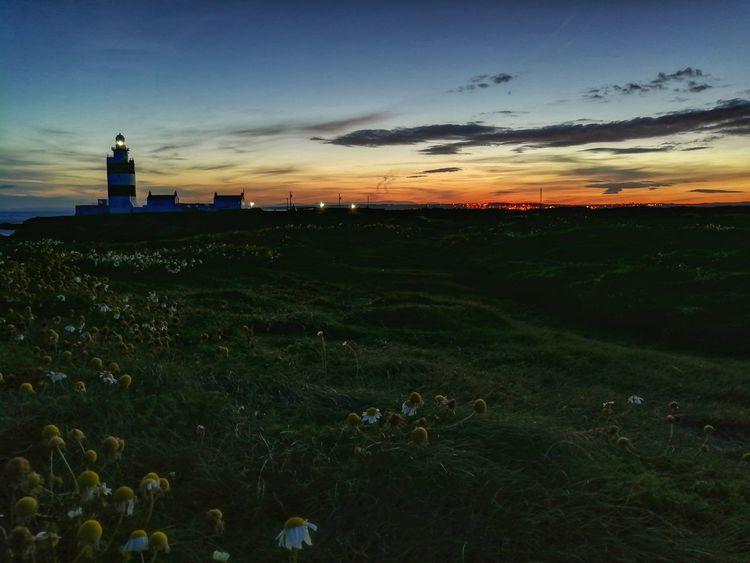An evening to revisit again & again! Hook Lighthouse Hook Head, Ireland Ireland🍀 Night Lights Night Shot Sunset Lighthouse No People Outdoors Night Sky Grass EyeEmNewHere Huawei P10 Plus Night View Evening Sunset Evening Lights Sunset Lovers 🌅 Sunset Light In The Darkness Lighthouse_lovers Lighthouse_captures Sunset_collection Landscape Beauty In Nature Your Ticket To Europe The Week On EyeEm