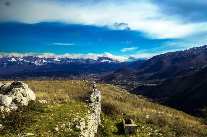 Blue Intense Blue Sky And Clouds Casalvieri Far Far Away Landascape Mountain Nikon D3300 Sora