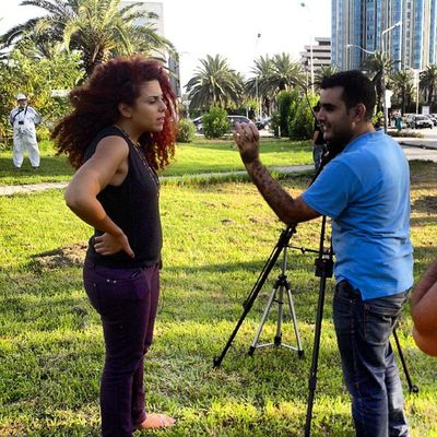 Interview de @hendhendoud au sitin de FreeJabeur