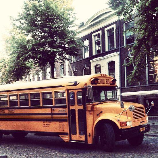 Old school bus in Utrecht. Wheelsgo Roundandround
