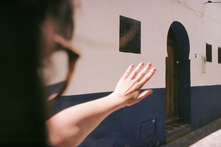 Explore Travel Analogue Photography Filmisnotdead Hand Human Hand Human Body Part One Person Body Part Architecture Sunlight Real People Day Unrecognizable Person Reaching