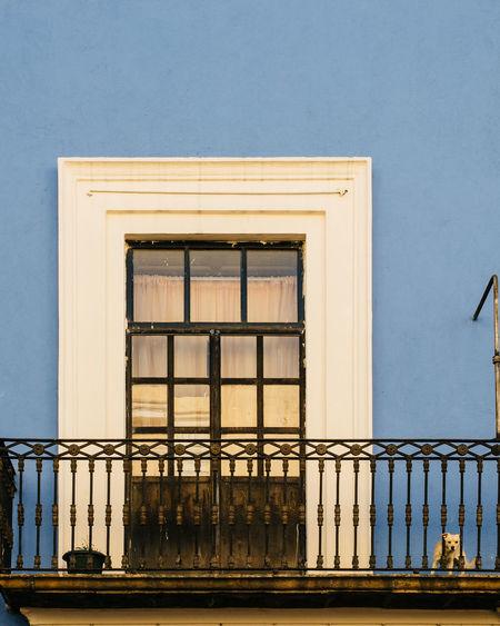 Railing By Closed Window