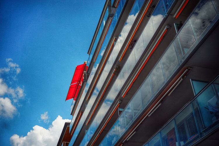 2019 Niklas Storm Juli City Modern Blue Red Sky Architecture Building Exterior Built Structure Construction The Architect - 2019 EyeEm Awards My Best Photo