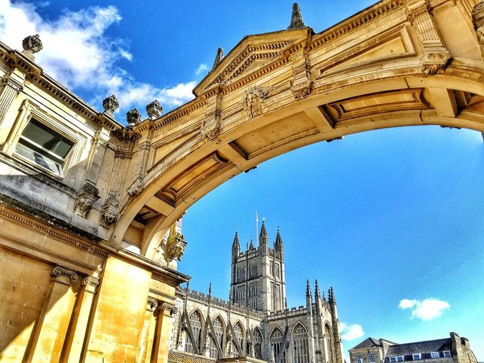 Architecture Built Structure Low Angle View Travel Destinations Building Exterior History Outdoors United Kingdom Bath City Bath England Roman Bath