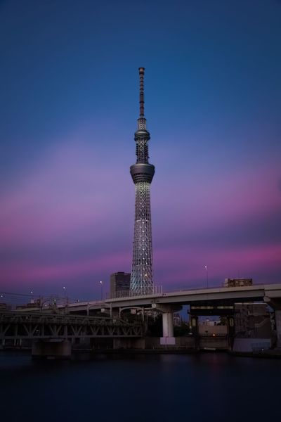 Architecture Built Structure Tower Travel Destinations Sky Travel Tourism Water Building Exterior Outdoors No People Tall Sunset City Nautical Vessel Blue Illuminated Night Nature First Eyeem Photo EyeEmNewHere